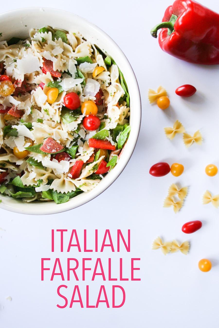 Farfalle Pasta Salad Recipe  Simple Summer Farfalle Pasta Salad