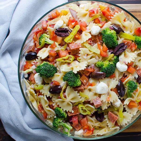Farfalle Pasta Salad Recipe  Farfalle with Pepperoni Mozzarella and Broccoli
