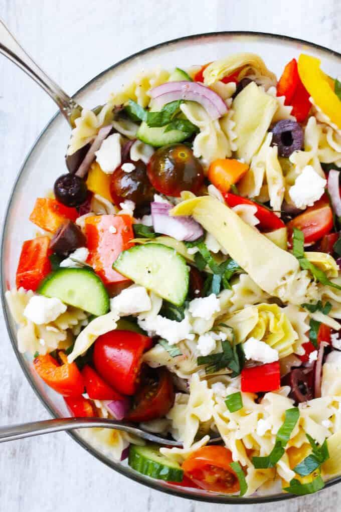 Farfalle Pasta Salad Recipe  Farfalle Pasta Salad Mediterranean Style