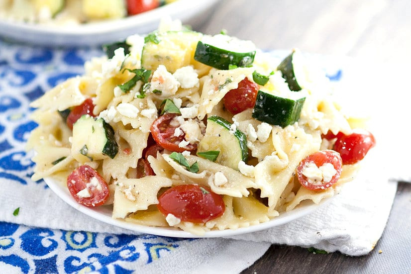 Farfalle Pasta Salad Recipes  Fresh Zucchini Farfalle Pasta Salad