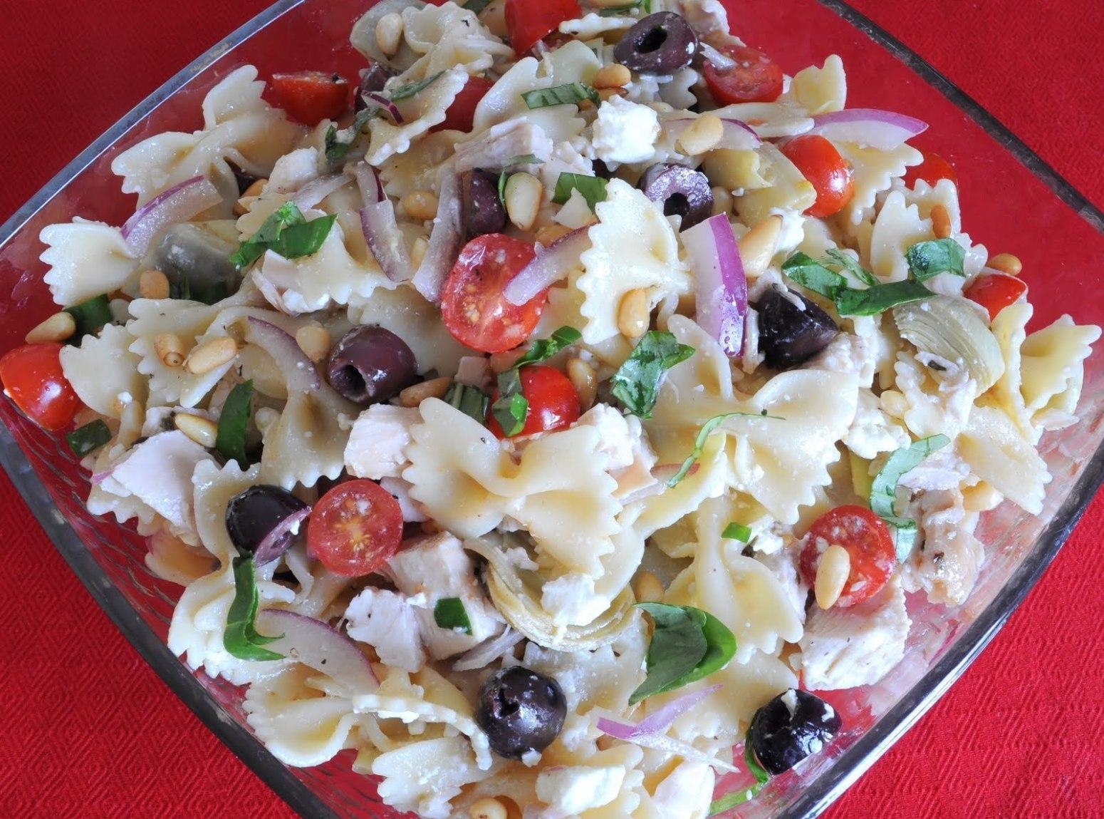 Farfalle Pasta Salad Recipes  Farfalle of Arete Greek Pasta Salad Recipe