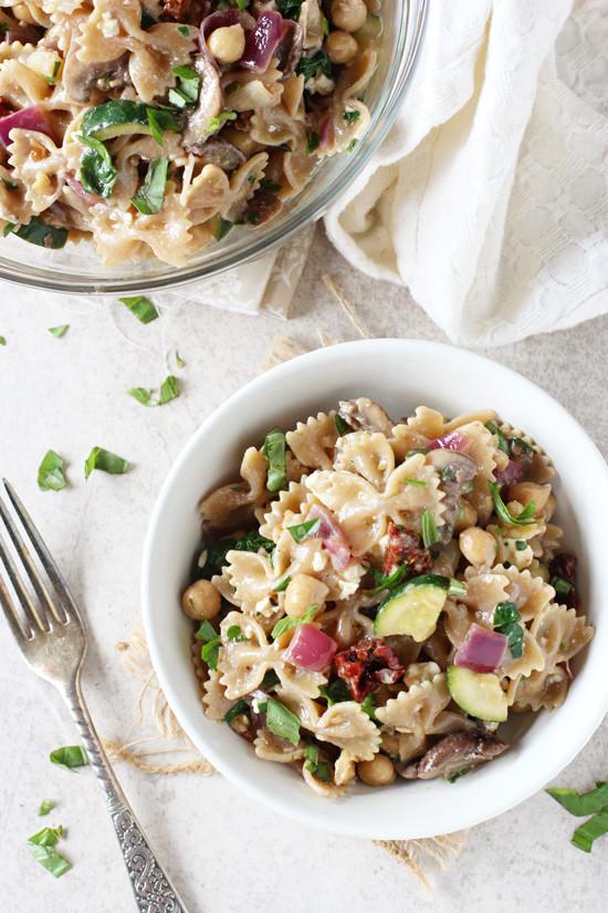 Farfalle Pasta Salad  Mediterranean Farfalle Pasta Salad Cook Nourish Bliss