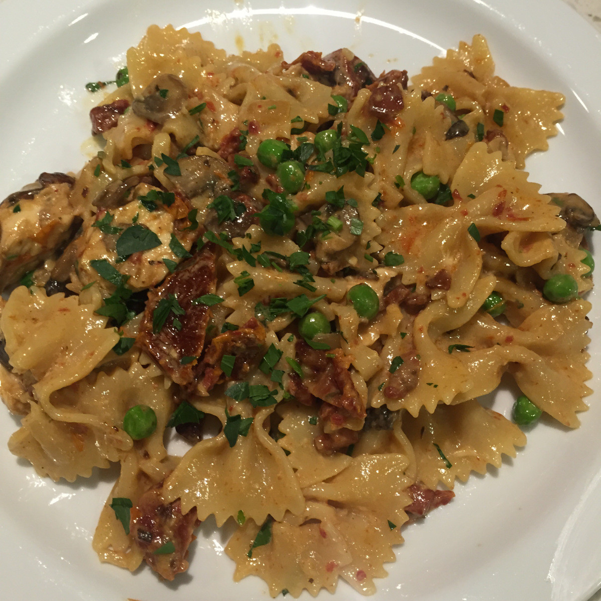 Farfalle With Chicken And Roasted Garlic  Farfalle with Roasted Chicken and Roasted Garlic… if you