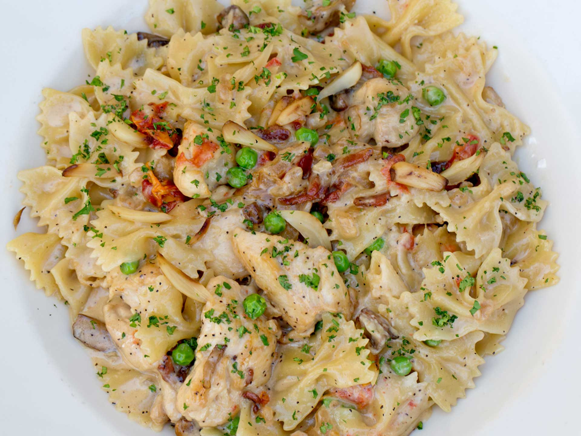 Farfalle With Chicken And Roasted Garlic  The Cheesecake Factory