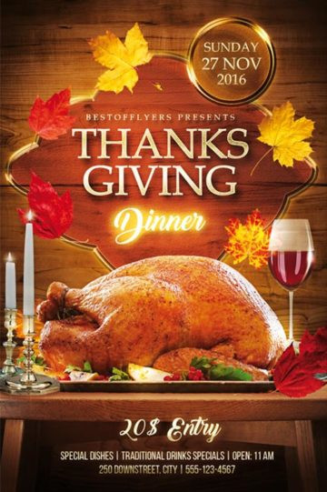 Festival Foods Thanksgiving Dinners  Download Free Thanksgiving Flyer PSD Templates for shop