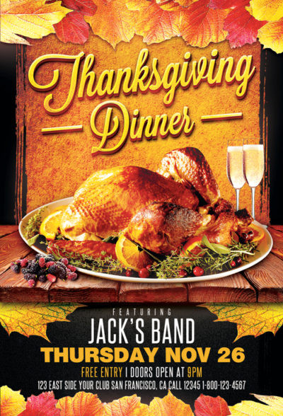 Festival Foods Thanksgiving Dinners  Thanksgiving Flyers Download flyer templates for party