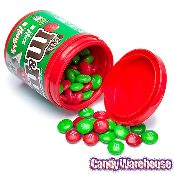 Filled Christmas Candy  Christmas M&M s Candy Filled Bottles 6 Piece Display