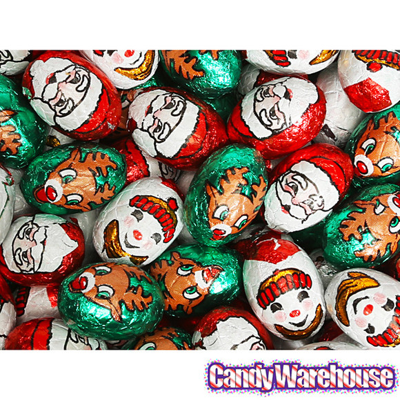Filled Christmas Candy  Christmas Foiled Caramel Filled Milk Chocolate Truffles