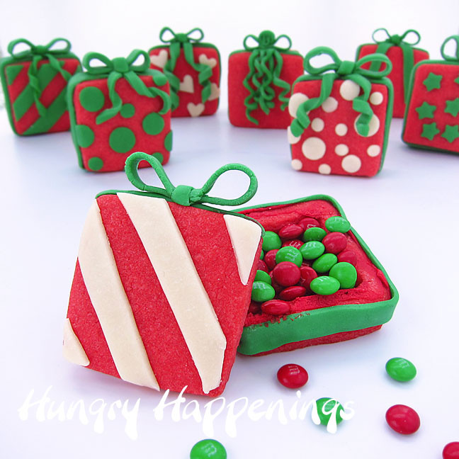 Filled Christmas Candy  Candy Filled Christmas Present Cookies Hungry Happenings