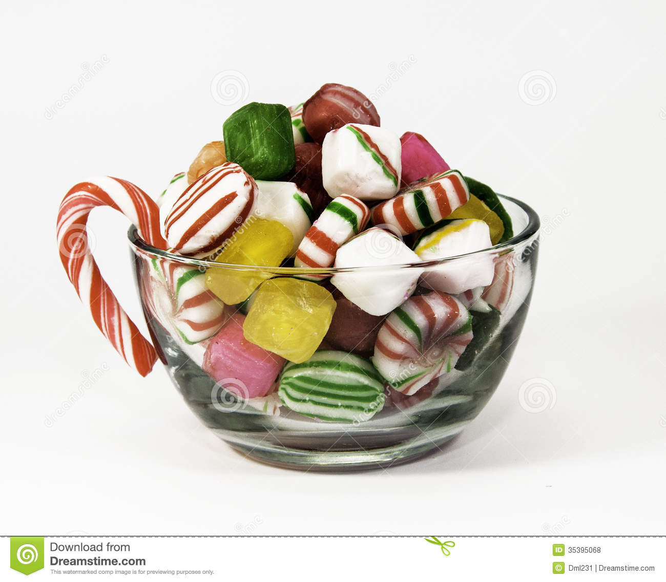 Filled Christmas Candy  Cup Christmas Candy Royalty Free Stock s Image