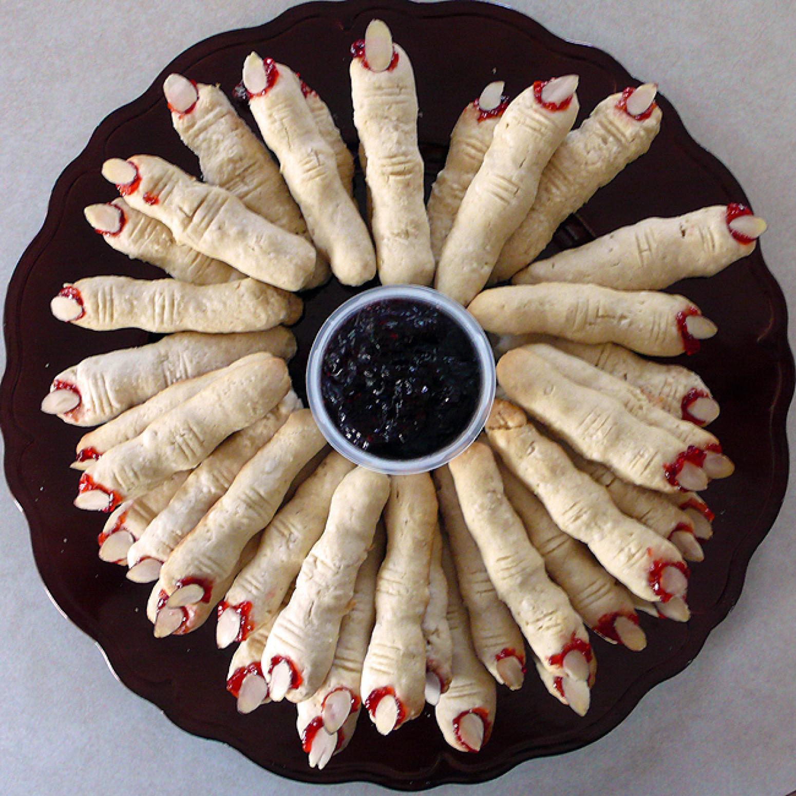 Finger Cookies Halloween  Halloween Witches Finger Cookies Recipe