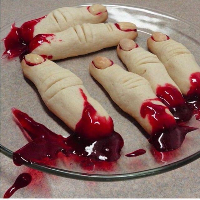Finger Cookies Halloween  Halloween bloody fingers