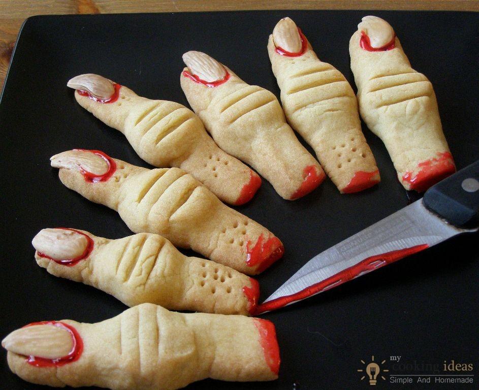 Finger Cookies Halloween  Creepy Monster s Finger Cookies