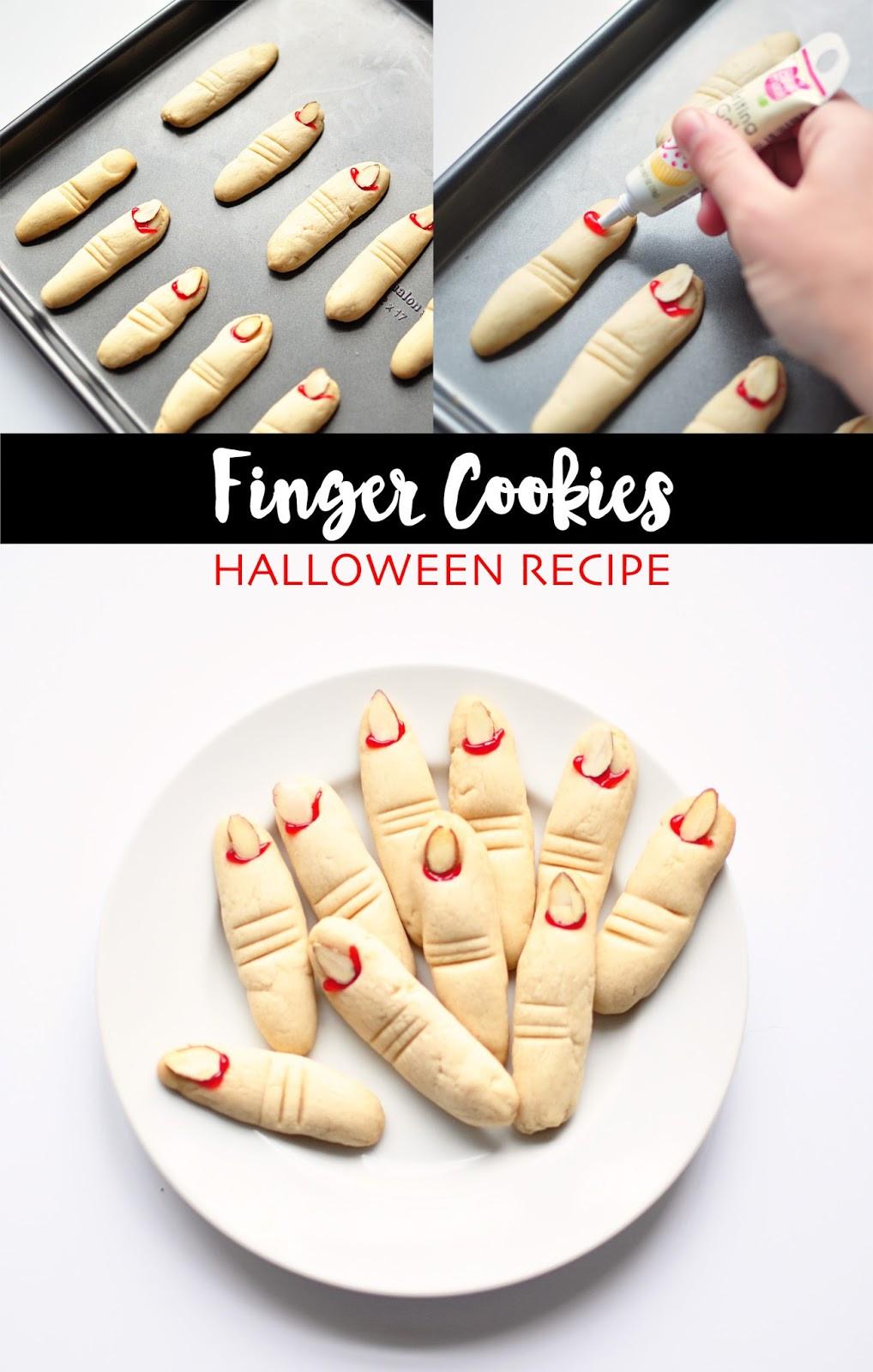 Finger Cookies Halloween  Little Sloth Finger Cookies Halloween