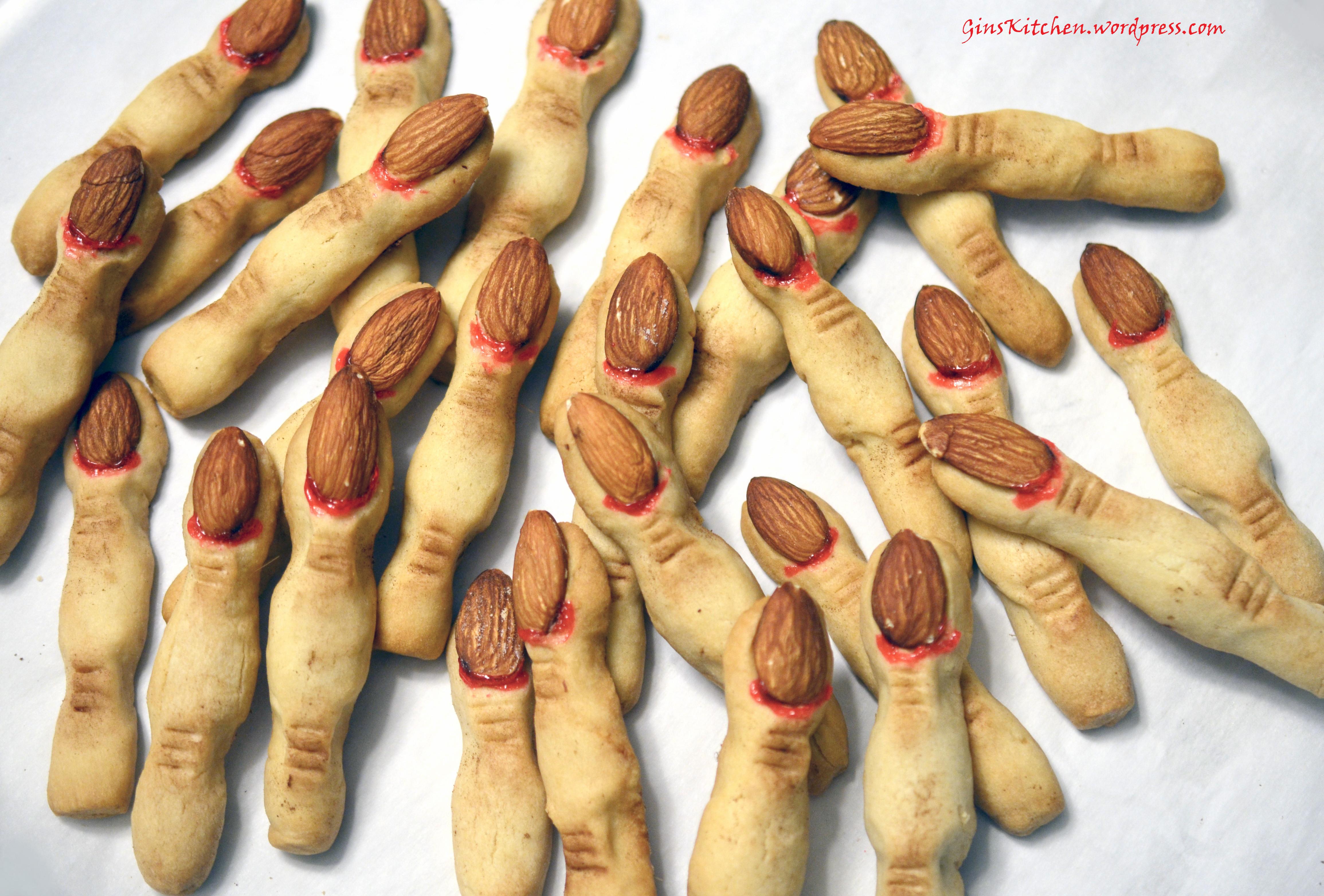 Finger Halloween Cookies  Halloween Witch Finger Cookies