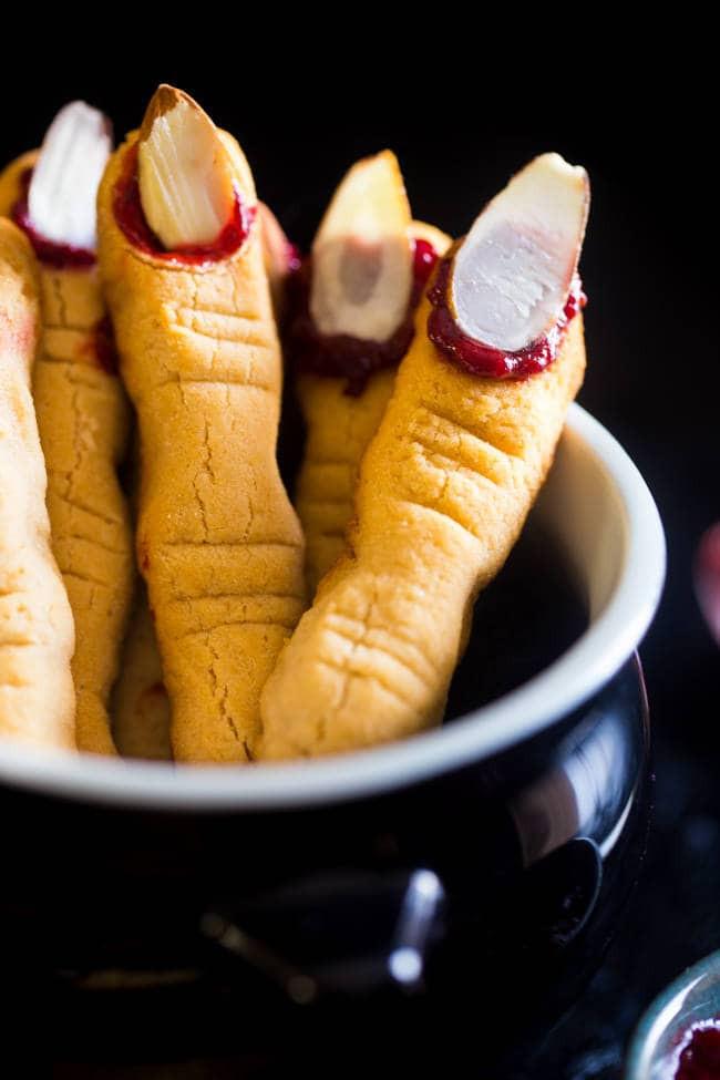 Finger Halloween Cookies  Paleo Witch Finger Cookies Vegan