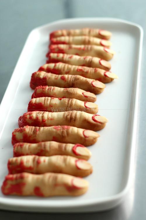 Finger Halloween Cookies  Zombie Finger Cookies