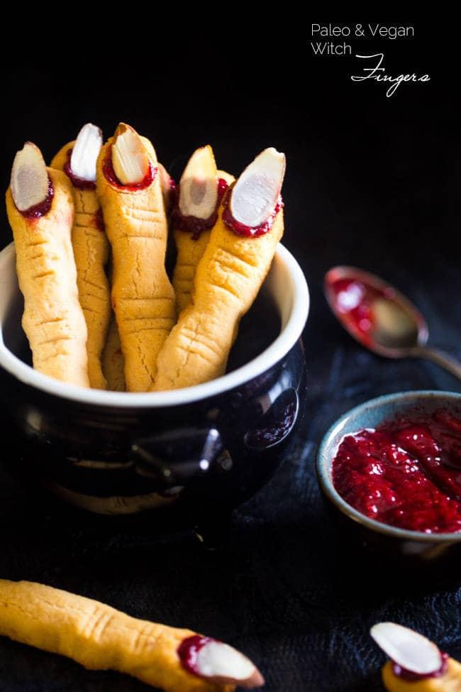 Fingers Cookies Halloween  Paleo Witch Finger Cookies Vegan
