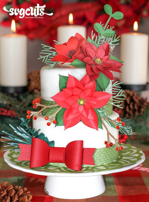 Fondant Christmas Cakes  Christmas Cake a la SVG Cuts by Ilda Dias