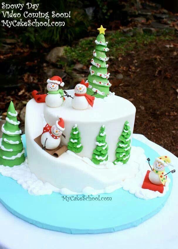 Fondant Christmas Cakes  Best 25 Fondant christmas cake ideas on Pinterest