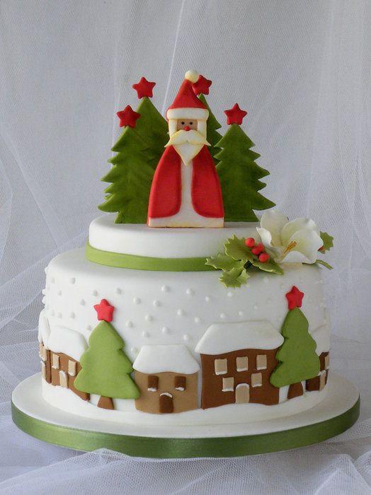 Fondant Christmas Cakes  214 best Christmas Cakes images on Pinterest