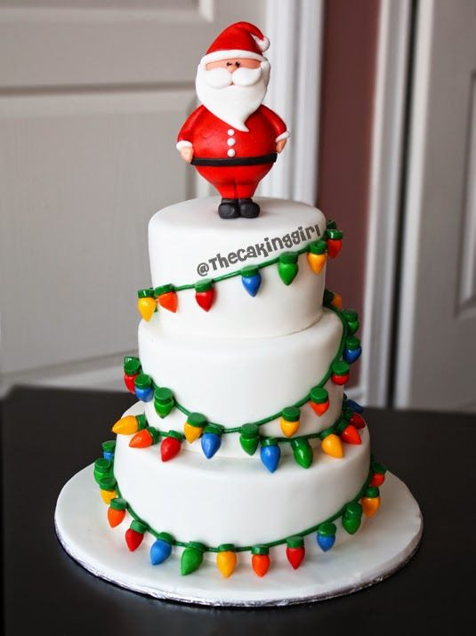 Fondant Christmas Cakes  3066 best images about Fondant Cakes and Decorated Cakes