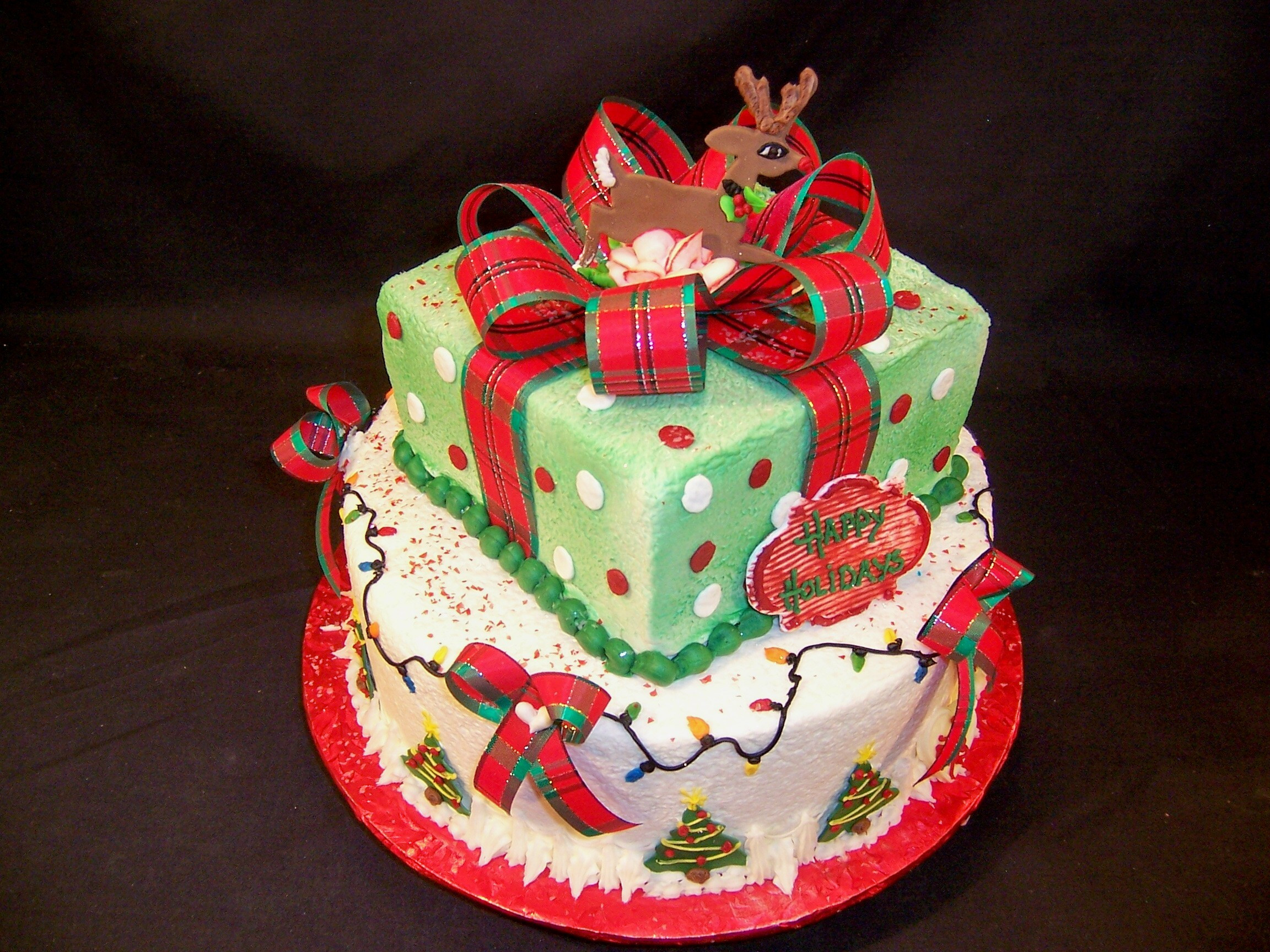 Fondant Christmas Cakes  January 2011