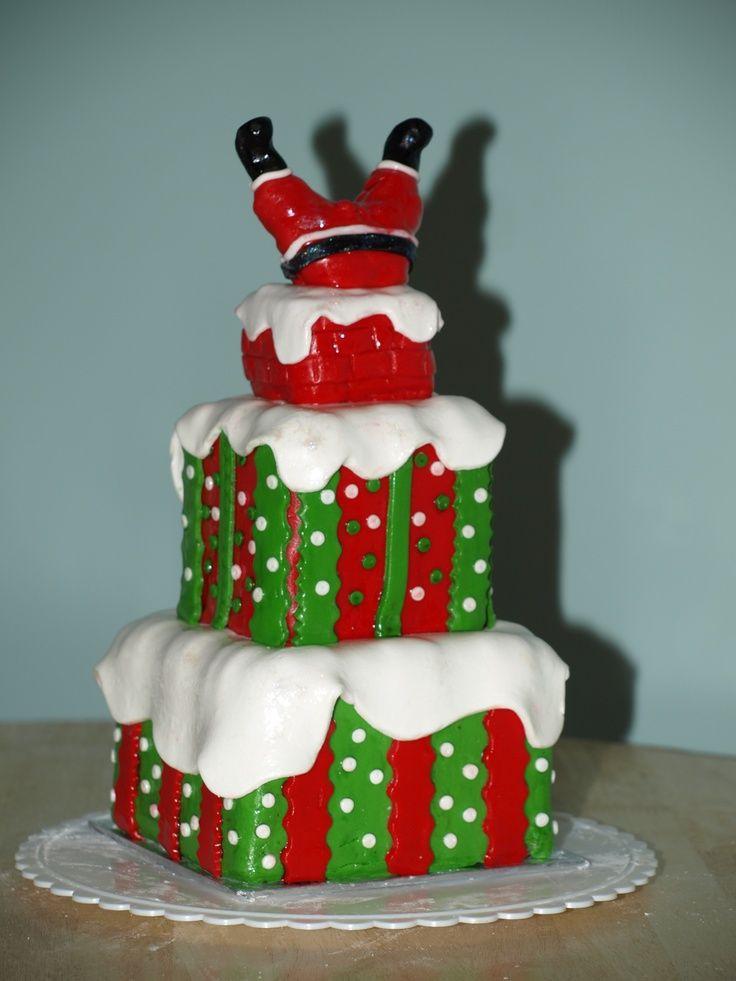 Fondant Christmas Cakes  fondant santa