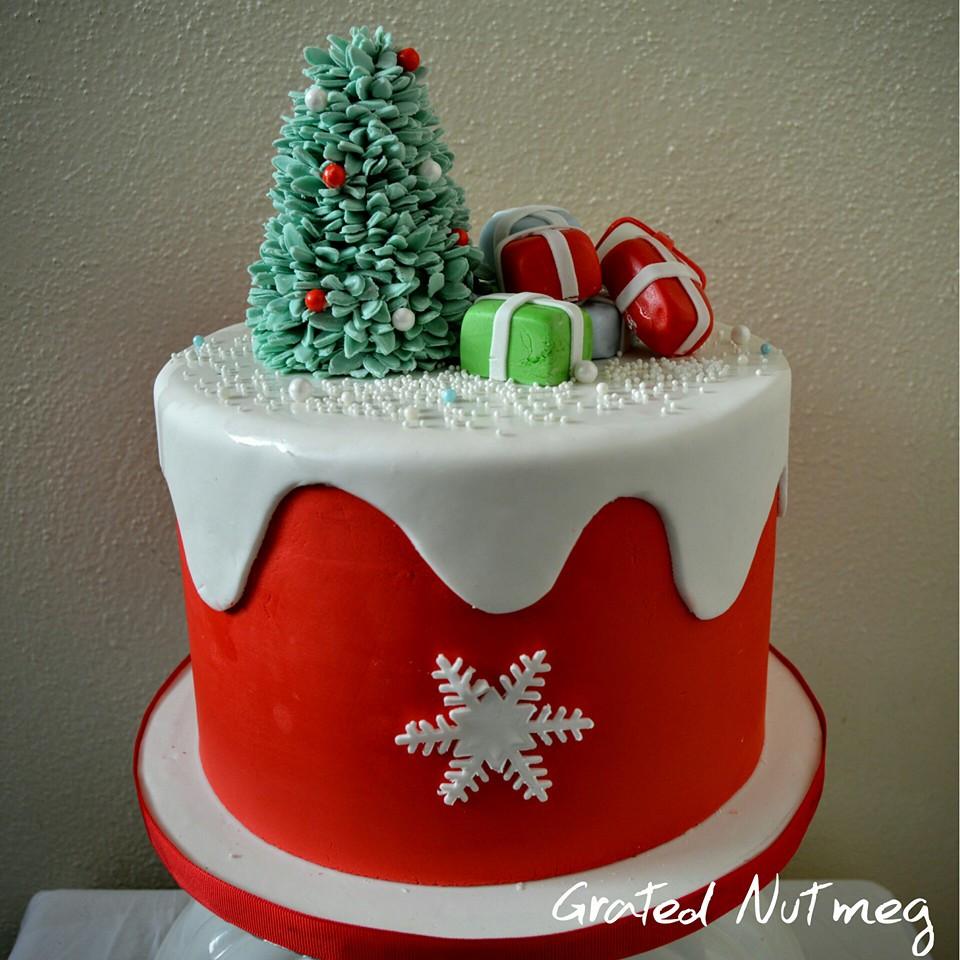 Fondant Christmas Cakes  How to Make Fondant Overlays on Cakes – Grated Nutmeg