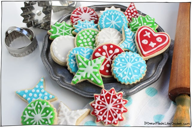 Frosting For Christmas Cutout Cookies  Perfect Vegan Sugar Cookies • it doesn t taste like chicken