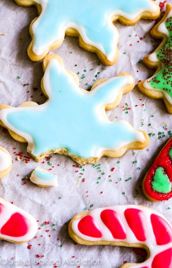 Frosting For Christmas Cutout Cookies  Holiday Cut Out Sugar Cookies with Easy Icing Sallys