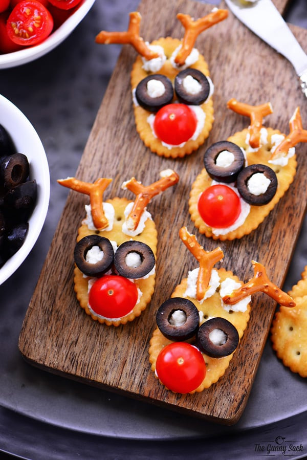 Fun Christmas Appetizers  Reindeer Snacks Recipe The Gunny Sack