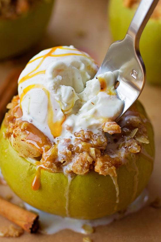 Fun Fall Desserts  Apple Crisp Stuffed Apples Life Made Simple