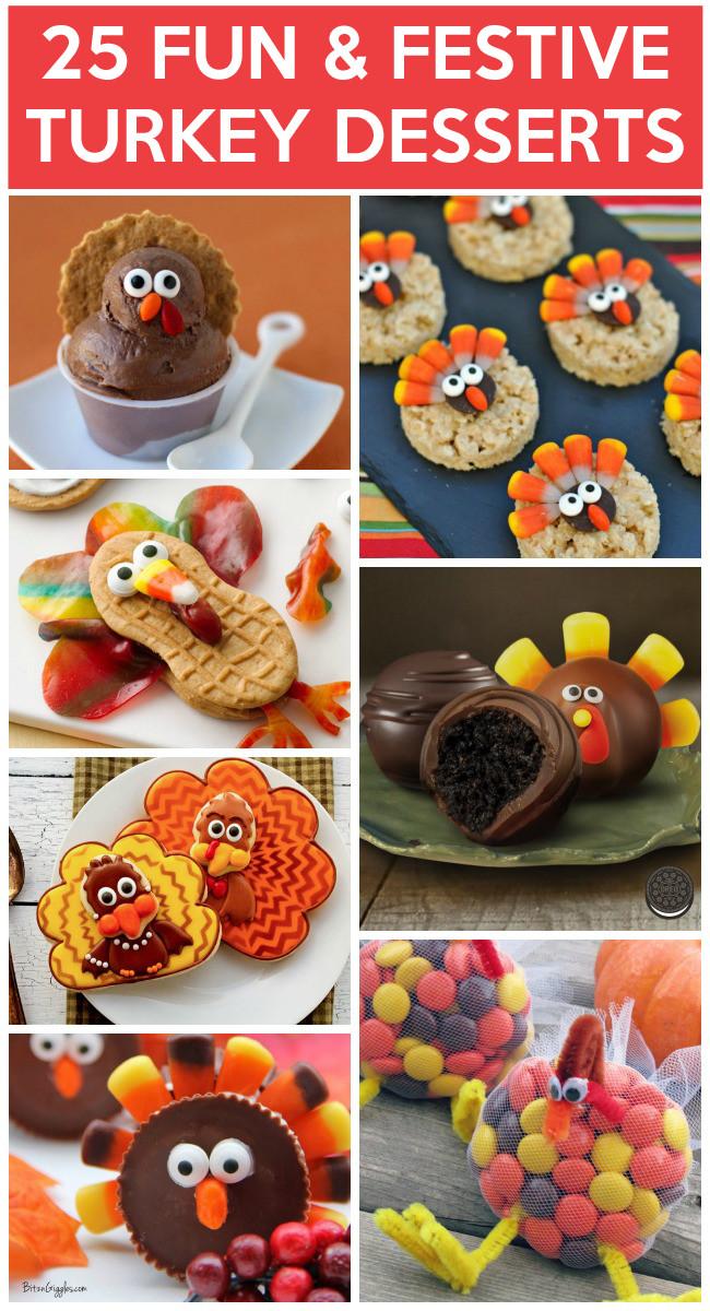 Fun Fall Desserts  25 Yummy Turkey Desserts To Make