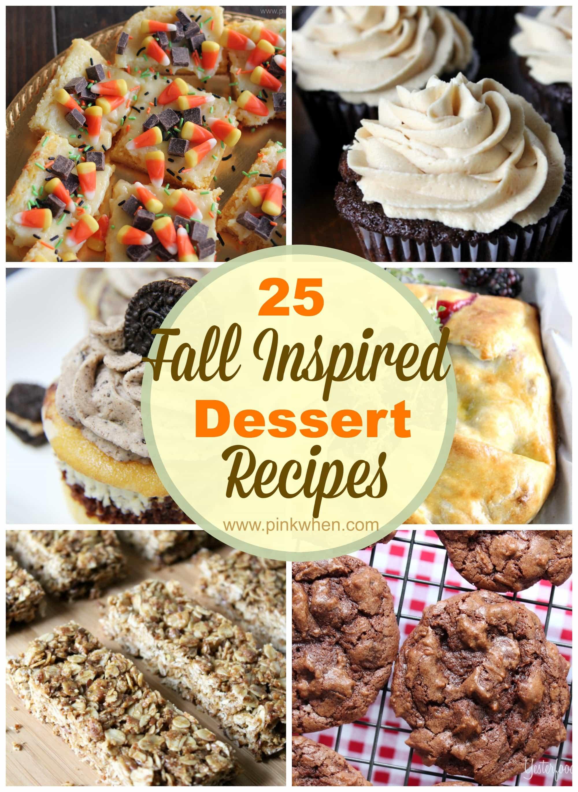 Fun Fall Desserts  diy Sunday Showcase 9 27 & FAVS PinkWhen