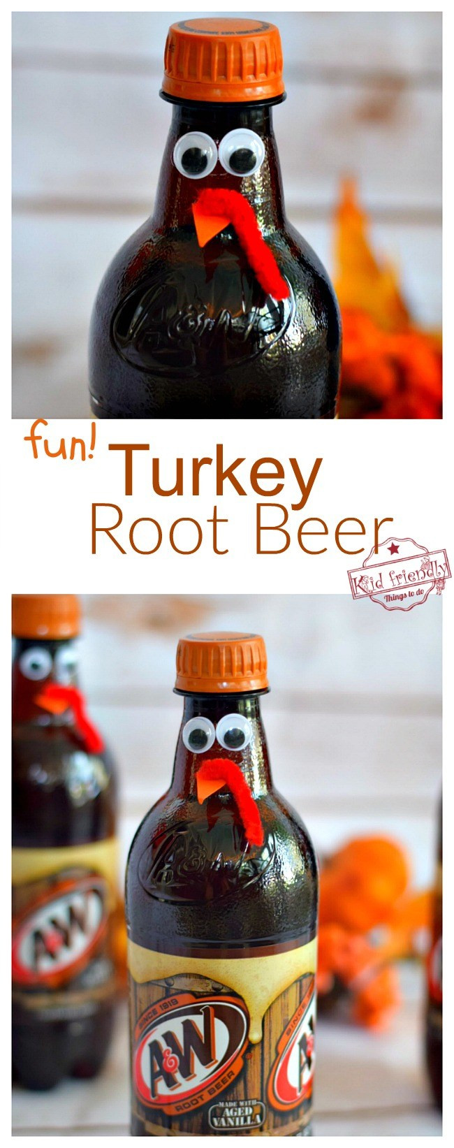 Fun Thanksgiving Drinks  Fun Turkey Root Beer Thanksgiving Drink Cute Fun Food