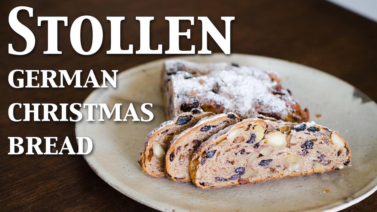German Christmas Bread Stollen Recipe  Stollen german christmas bread vegan ☆ シュトレン