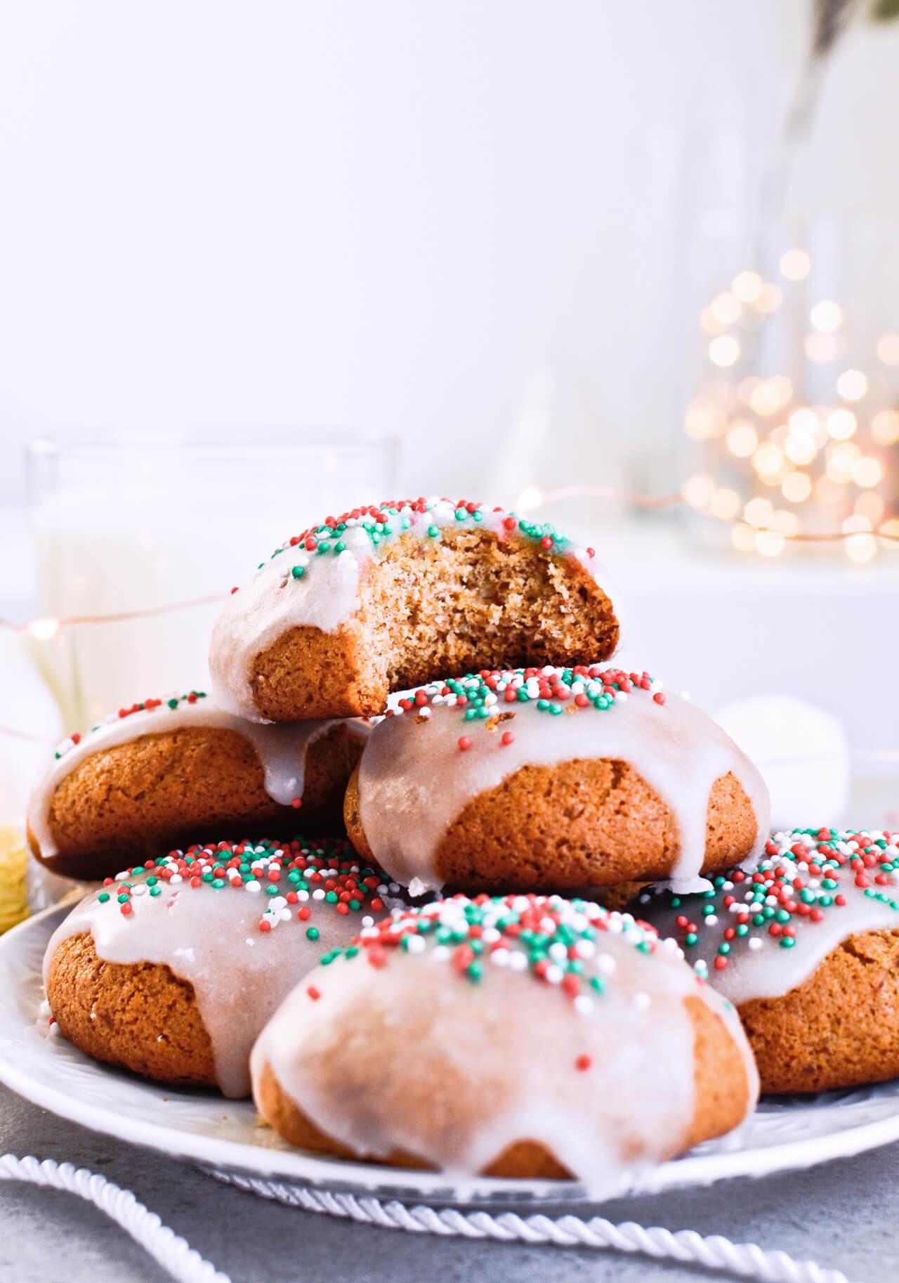 German Christmas Cookies Lebkuchen  Sugar glazed lebkuchen German Christmas cookies Mitzy