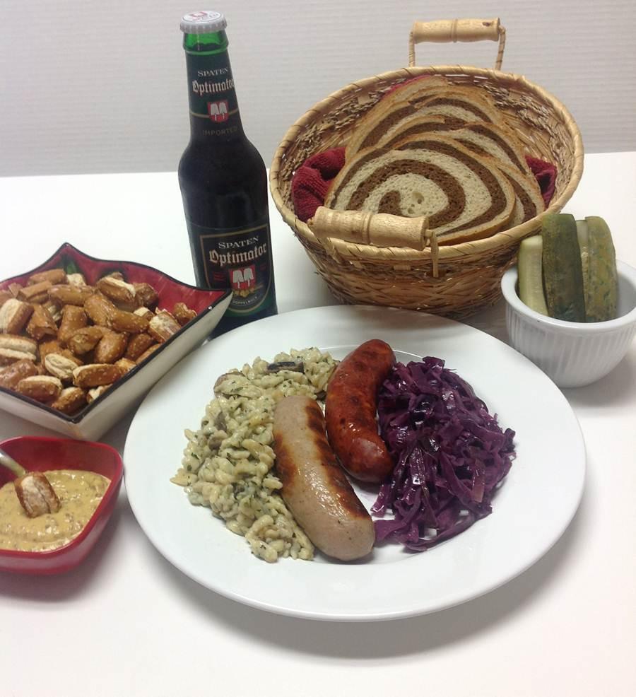 German Christmas Dinner  Cabbage Spaetzle and Streudel