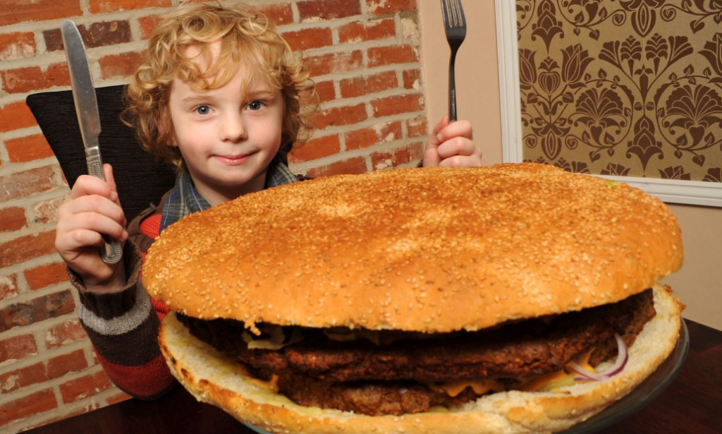 Giant Thanksgiving Dinner 2019  Is this Britain s biggest burger 13 000 calorie giant is