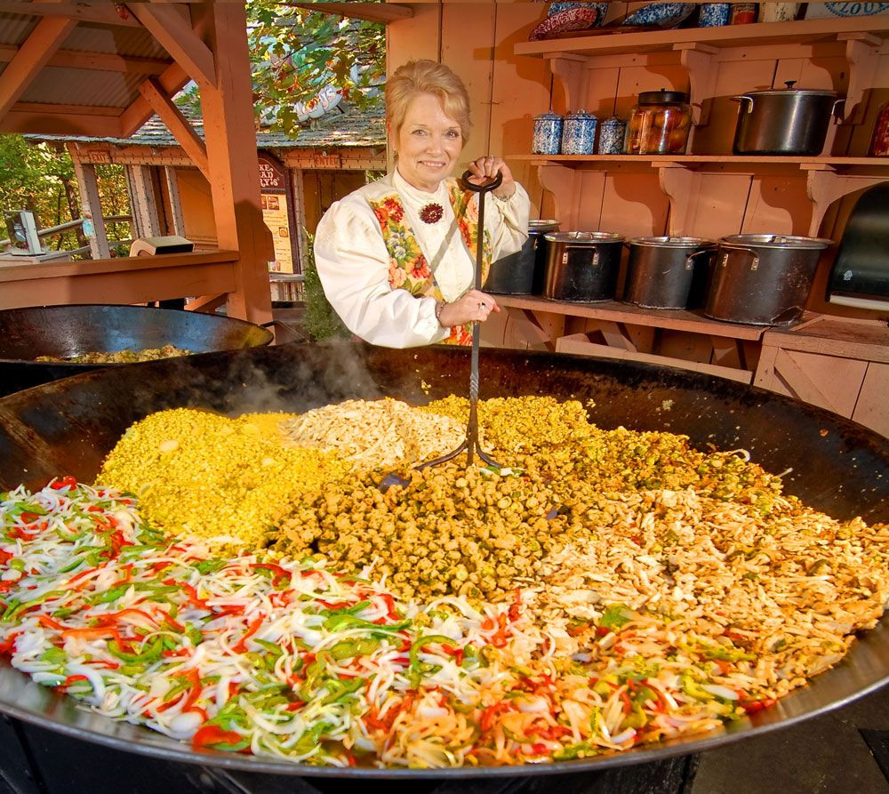 Giant Thanksgiving Dinner 2019  Giant Skillet Meals just one tradition in Silver Dollar