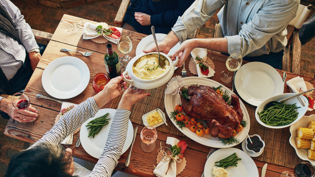 Giant Thanksgiving Turkey Dinner  How to Host a Huge Thanksgiving in a Small Space