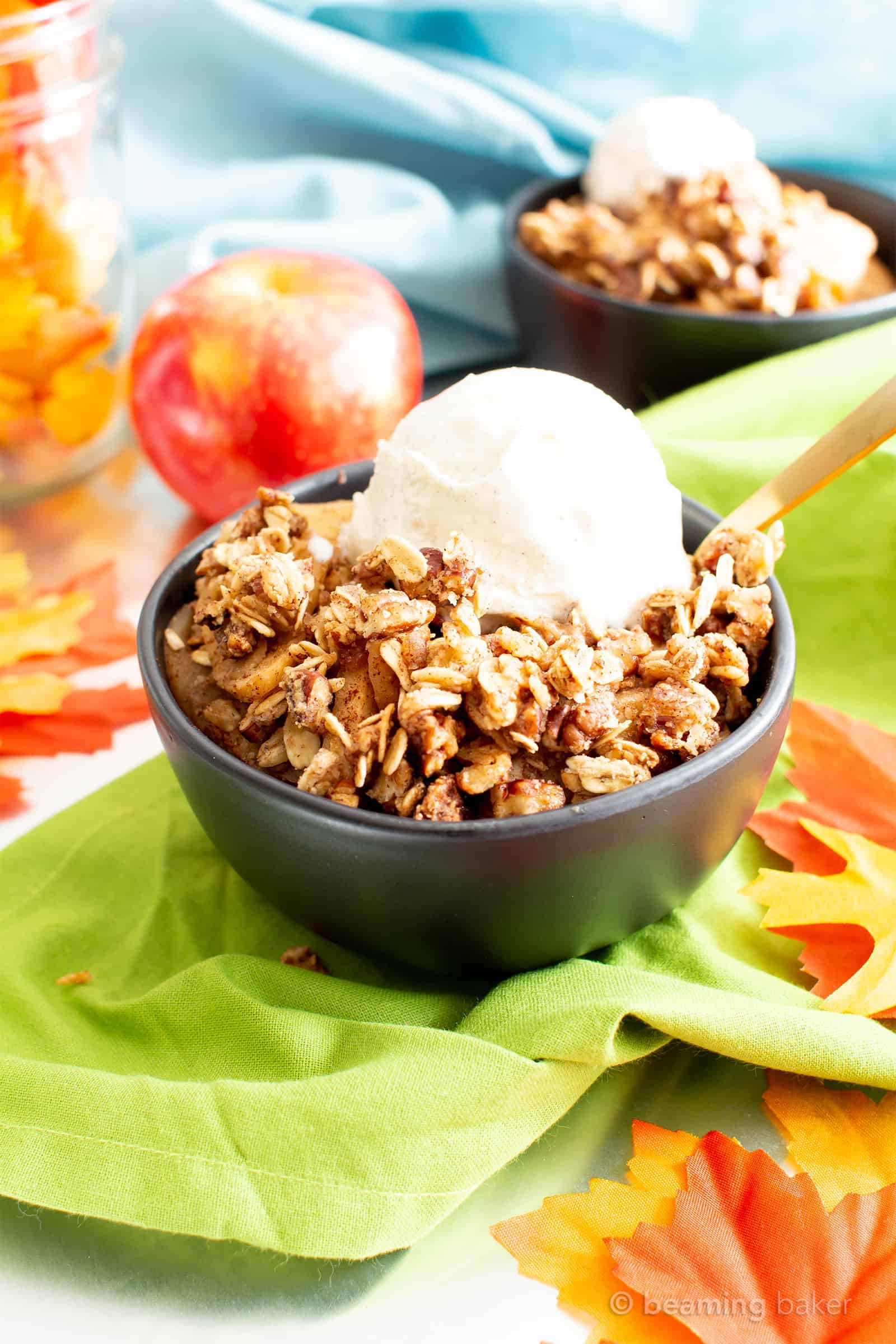 Gluten Free Fall Recipes  Vegan Gluten Free Cinnamon Apple Crisp with Oats Dairy