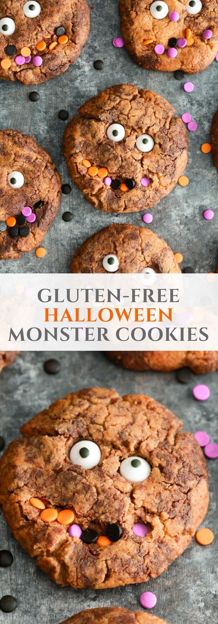 Gluten Free Halloween Cookies  Gluten free Halloween Monster Cookies Primavera Kitchen
