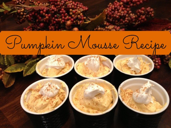 Gluten Free Pumpkin Desserts Thanksgiving  Easy Gluten Free Thanksgiving Dessert Pumpkin Mousse Recipe