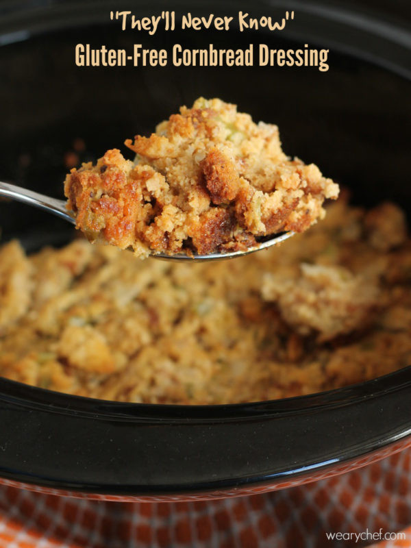 Gluten Free Stuffing Recipes For Thanksgiving  Slow Cooker Gluten Free Cornbread Dressing The Weary Chef