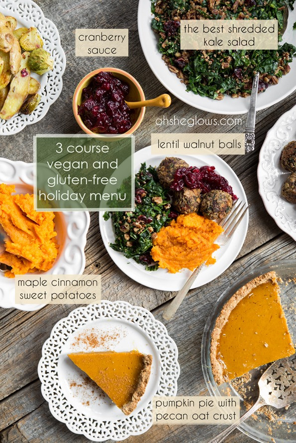 Gluten Free Thanksgiving Menu  3 Course Vegan and Gluten Free Holiday Menu – Step by step