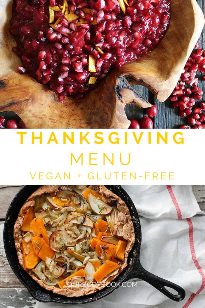Gluten Free Thanksgiving Menu  Thanksgiving Menu Vegan Gluten Free · The Body Book