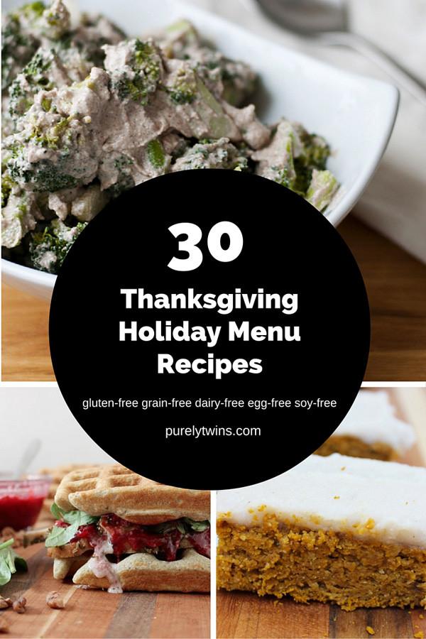 Gluten Free Thanksgiving Menu  30 Thanksgiving Menu Recipes