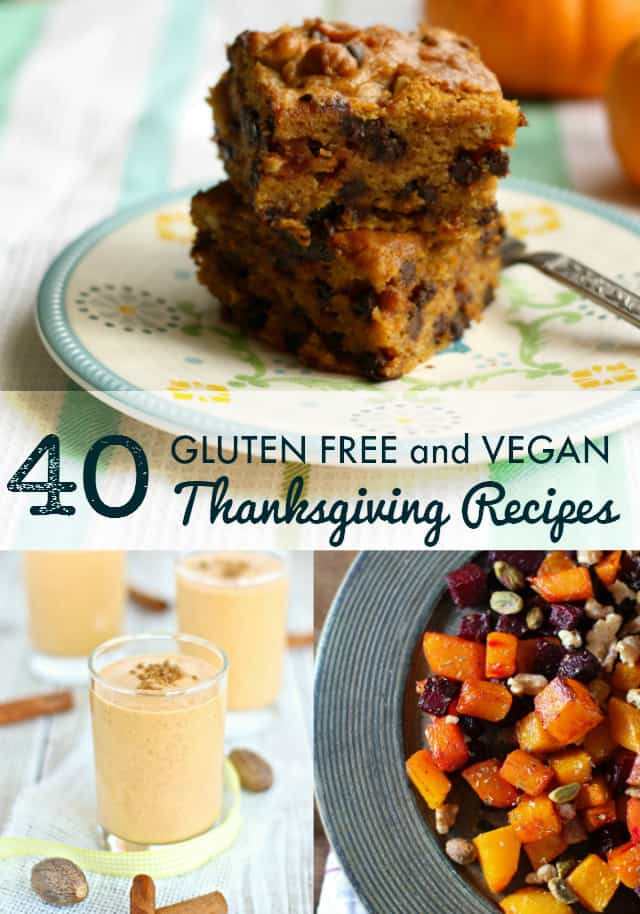 Gluten Free Vegetarian Thanksgiving  40 Vegan and Gluten Free Thanksgiving Recipes The